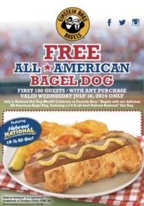 free bagel dog