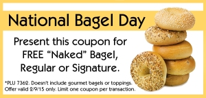 national bagel day coupon