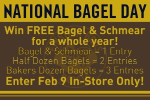 national bagel day email